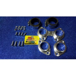 ELASTIC SUPPORT KIT FOR CARBURETORS 40 DOUBLE BODY SOLEX, WEBER OF THE ALFA ROMEO DERIVATION HORSE.