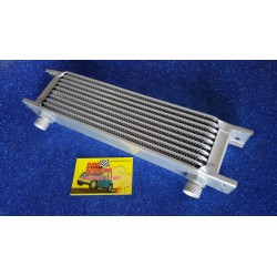ALUMINUM RADIATOR FOR ENGINE OIL COOLING IN 10 ROWS WITH ½ INCH CONNECTION.