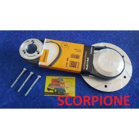 PULLEY KIT A 4 POLY-V GORES FOR ALTERNATOR SCORPIO FOR FIAT 500 F / L / R E 126 SCORPIO