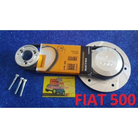 PULLEY KIT A 4 POLY-V GORES FOR ALTERNATORFOR FIAT 500 F / L / R E 126