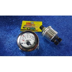 "52mm OIL PRESSURE INSTRUMENT WITH ""ABARTH"" WRITTEN FOR FIAT 500 F / L / R 126"