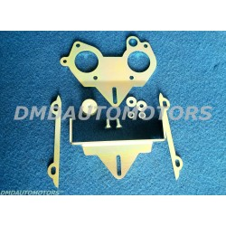 SUPPORT FOR TWIN-CHOKE HORIZONTAL CARBURETTOR Ø 40/40  (WEBER, DELL'ORTO, SOLEX) FOR FIAT 500 F/L/R and FIAT 126 ENGINE